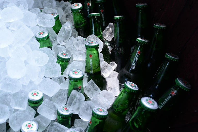 Ice cold beer for a hot day
