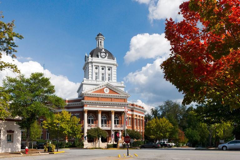 Morgan County Courthouse, Main Square, Madison, Georgia, USA