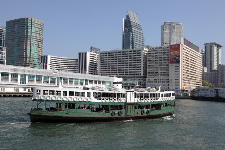 The Star Ferry shuttles locals between Kowloon and Hong Kong Island