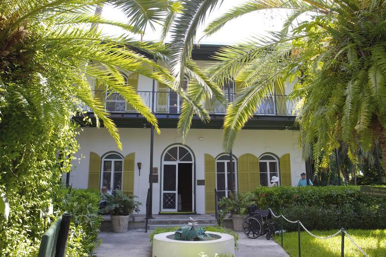 Ernest Hemingway house in Key West, Florida.