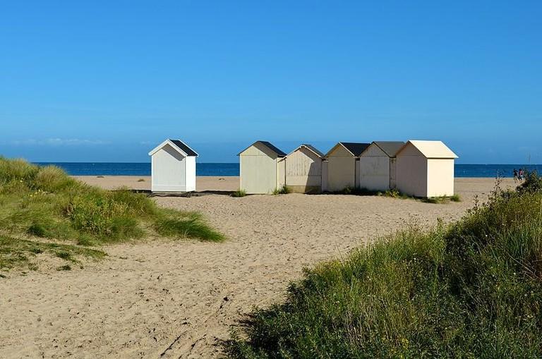 Cabanons on ouistreham beach