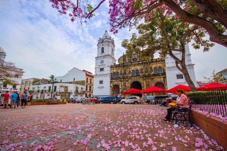 Plaza de la Independenciain Casco Viejo, Panama City