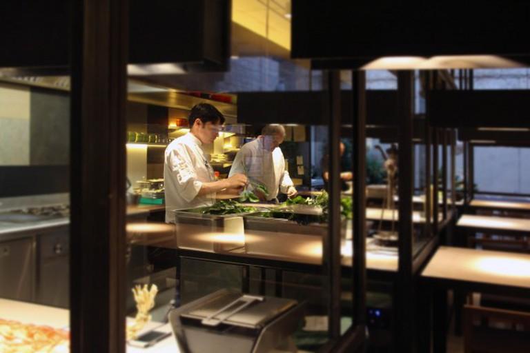 Chefs in the Celerí kitchen