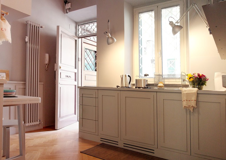 The entrance and kitchen of Delizioso Piccolo Loft