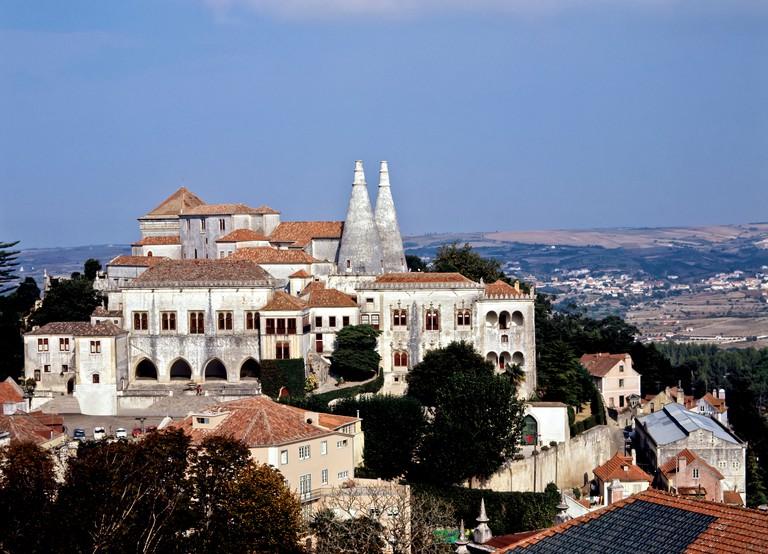 Sintra Palace, Sintra, Portugal.
