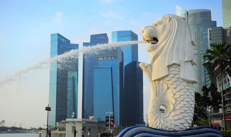 The Merlion fountain, Singapore.