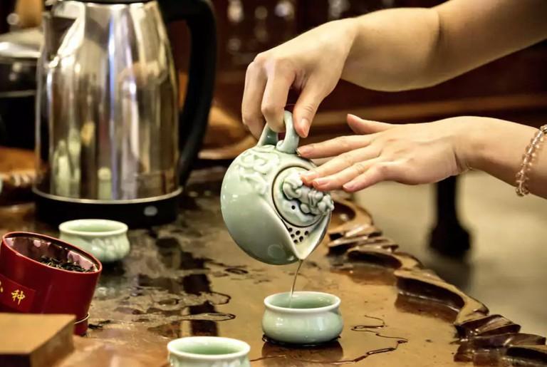 Tea service at Dansavanh