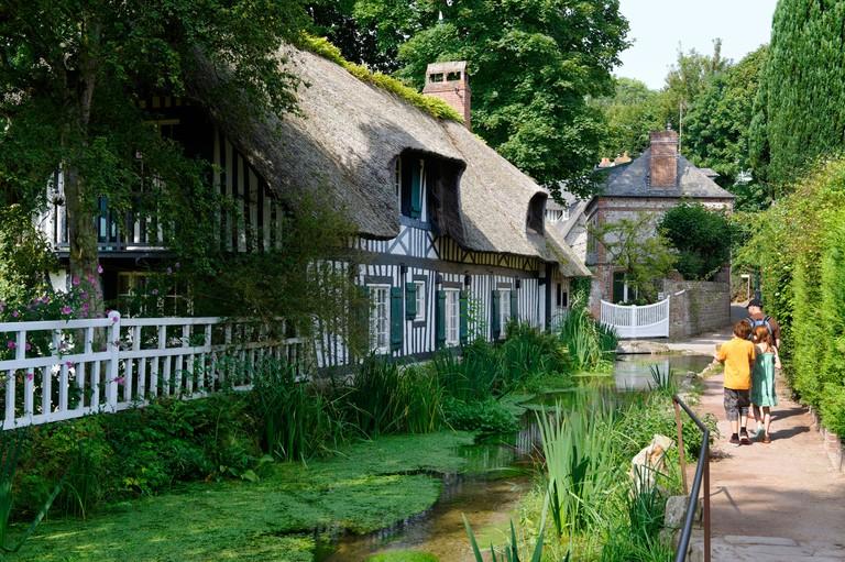 Abreuvoir on Veules River, France's shortest river, Veules-les-Roses