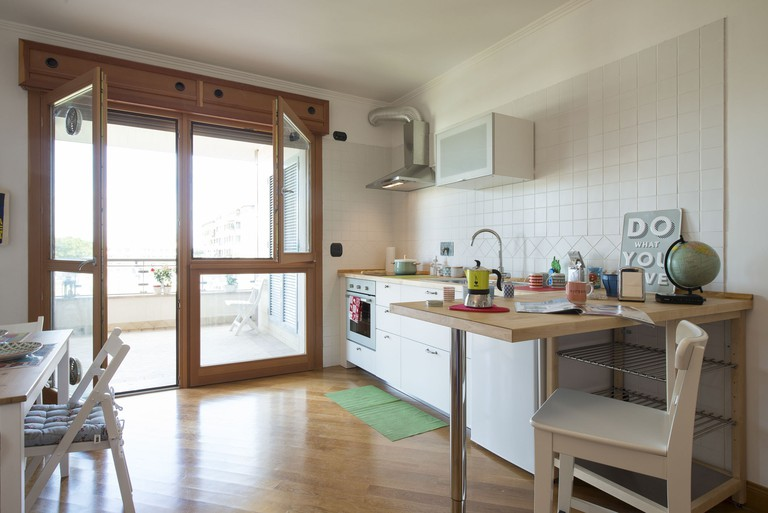 The kitchen at Casa Albachiara