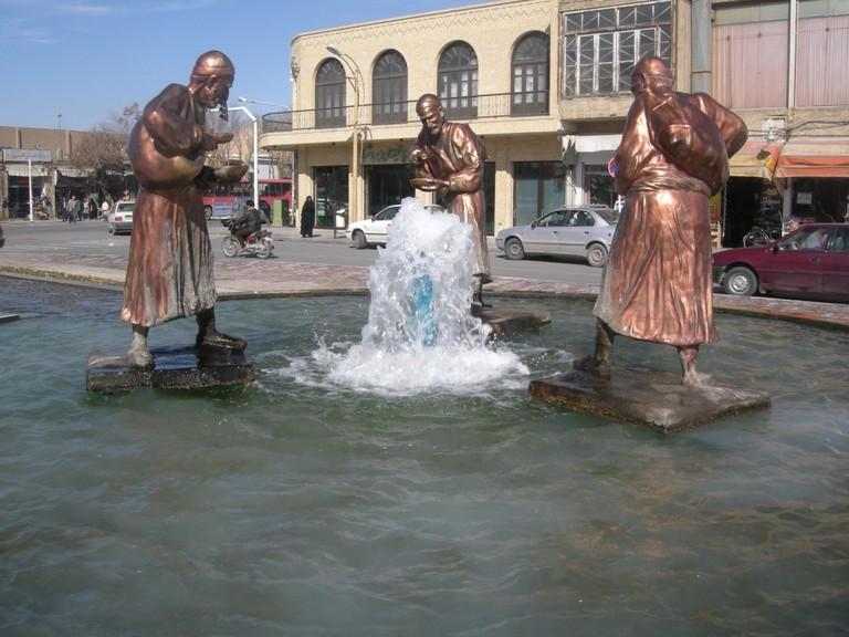 Bronze sculptures in Yazd