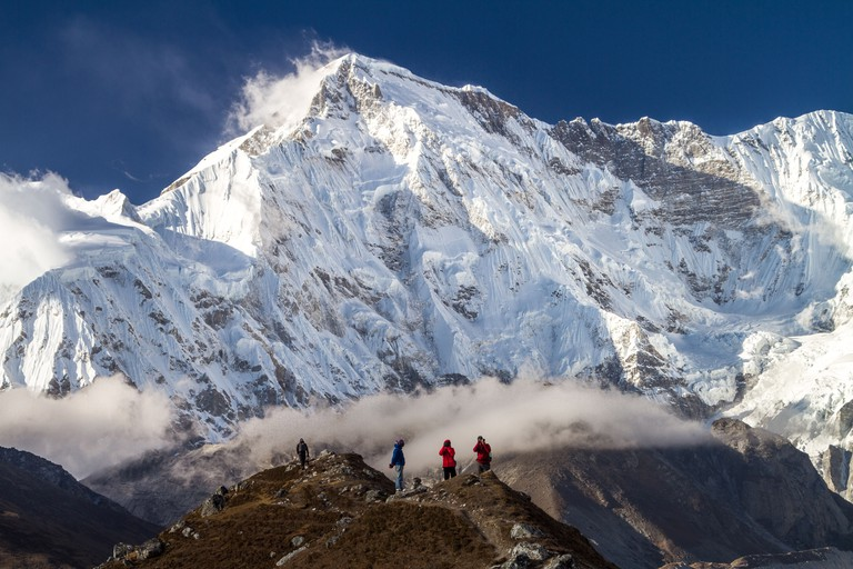 Cho Oyu And The Photographers, Sagarmatha National Park, Solukhumbu, Nepal