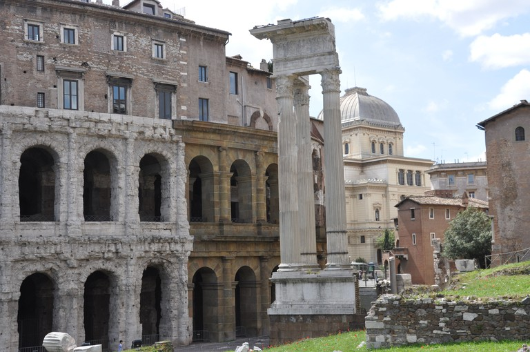 The Temple of Apollo Sosianus next to the Theatre of Marcellus