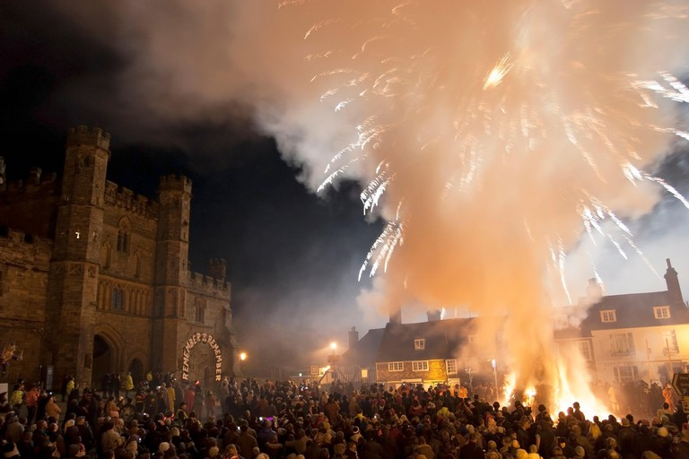 Battle Bonfire Night 2012, East Sussex, England.