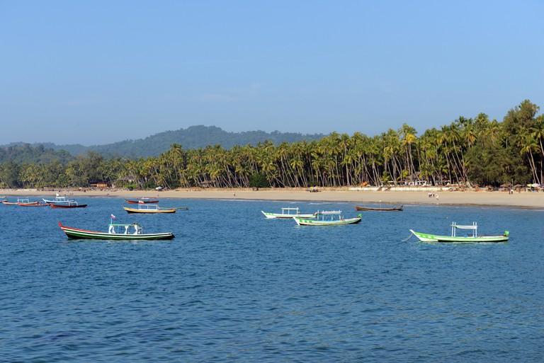 Ngapali beach in Rakhine state, Myanmar