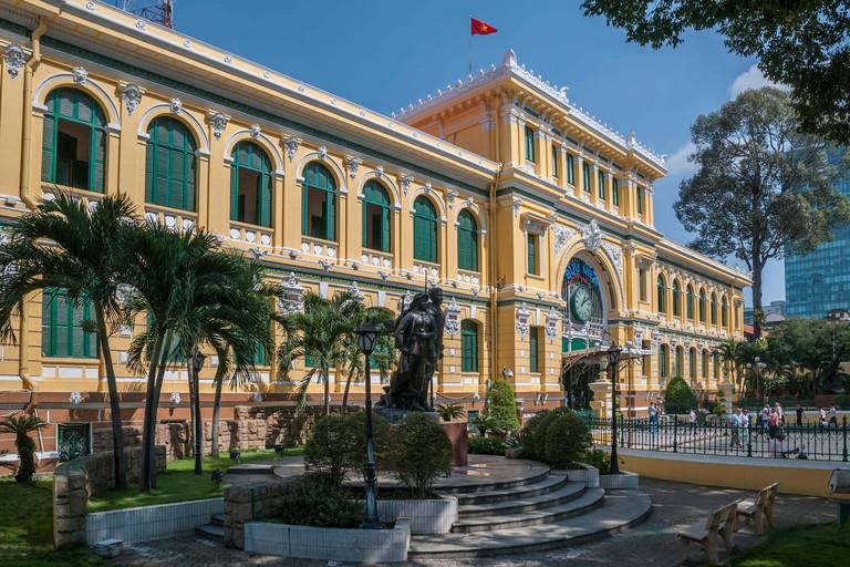Viet Nam. Vietnam. East Asia. The neo classical Saigon Central Post Office. Ho Chi Minh Ho Chi Minh city. Saigon