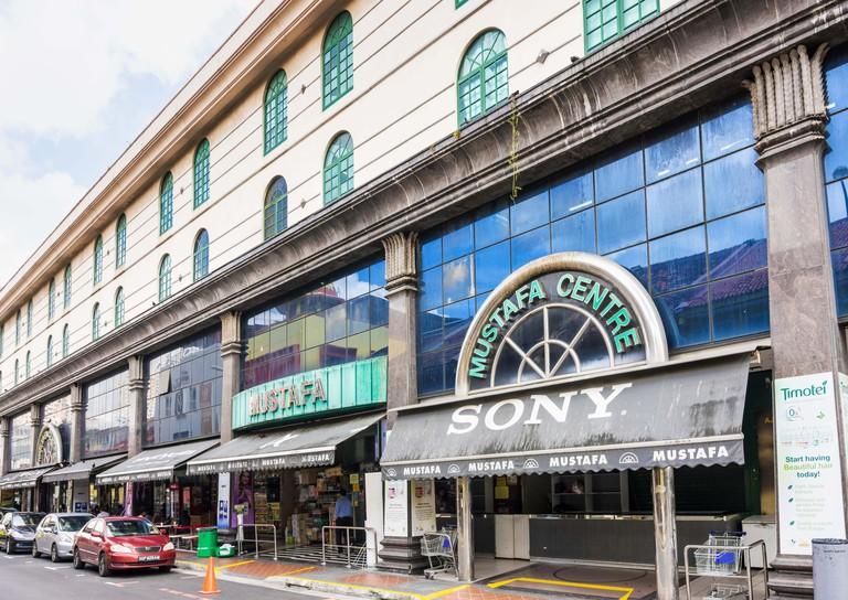 Mustafa Centre Shopping Mall in Little India, Singapore.