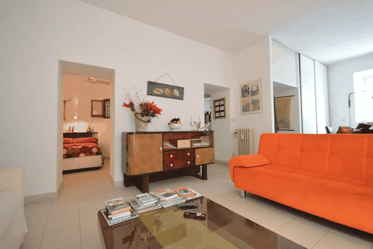 The living space of Garbatella Open Space Airbnb