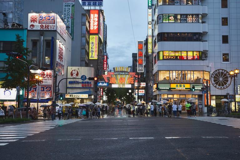 Osaka Tenjinbashisuji Shopping Arcade, Japan.