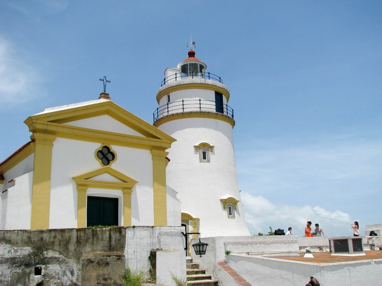 Guia Lighthouse and Chapel, located in the Guia Fortress, Macau