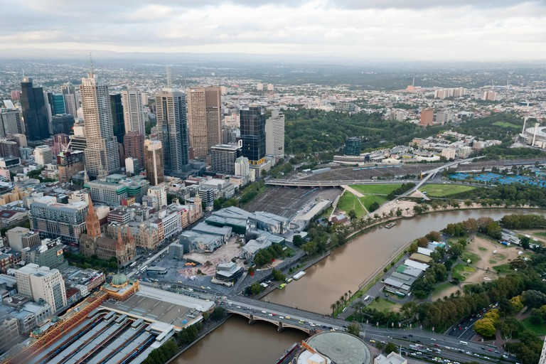 Melbourne Skyline from Eureka tower