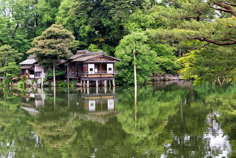 Tea House in Kenrokuen Garden, Kanazawa, Japan