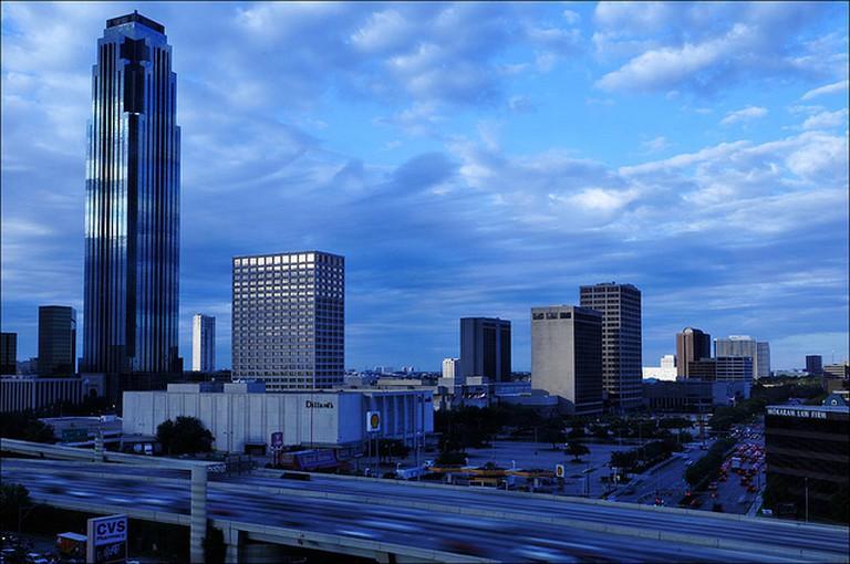 View of Houston from Hotel Derek