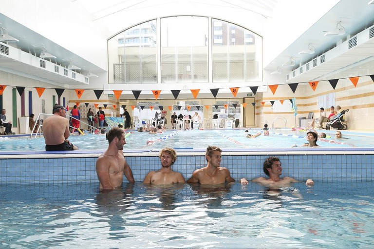 Relaxing in the St Kilda Sea Baths