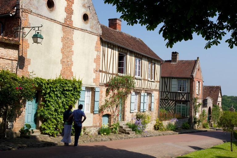 """The village of Gerberoy, listed """"Plus beaux villages de France"""""""