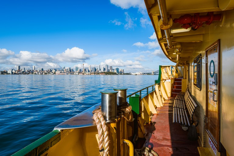 Manly to Sydney Ferry Ride on a Beautiful Sunny Day, Sydney, New South Wales (NSW), Australia