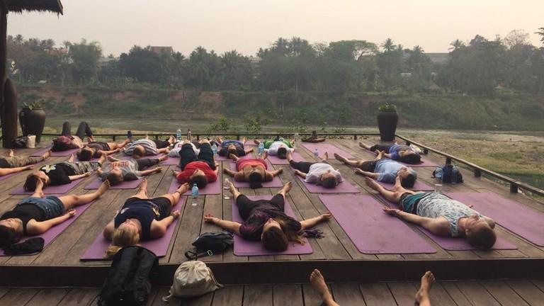 Mediation at Utopia with Luang Prabang Yoga