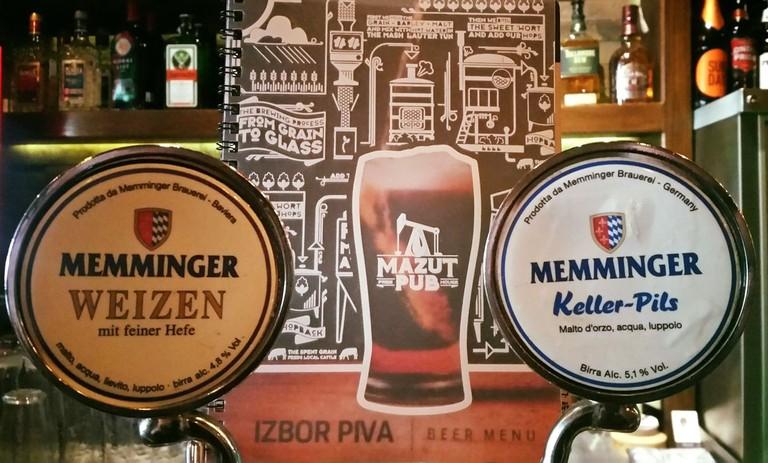 Beer, beer and beer at Mazut Pub