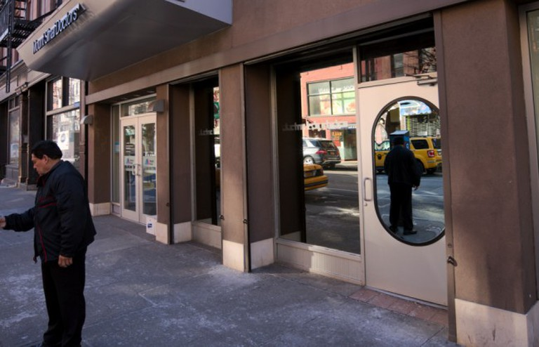 Mirrored exterior of Electric Lady Studios