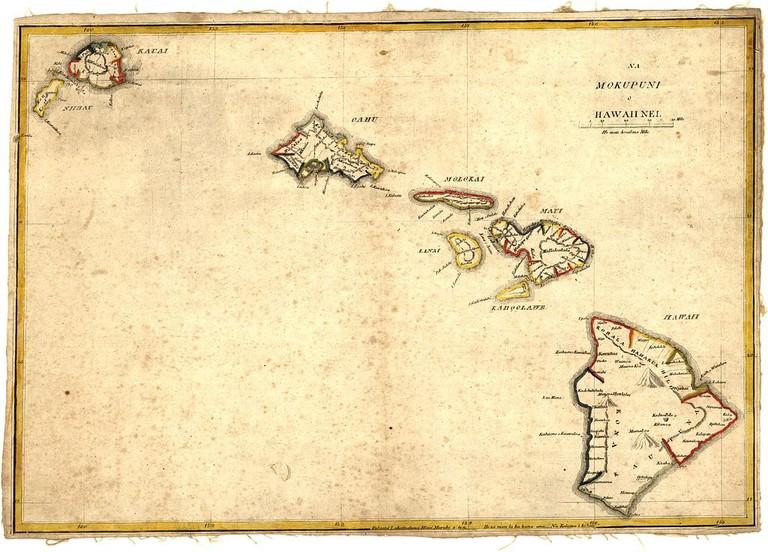 A map of the Hawaiian Islands