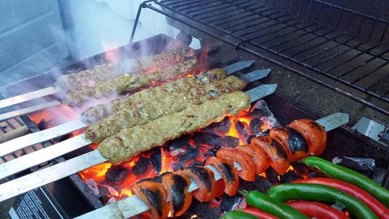 Kubideh kebabs are the specialty at Golpaygani