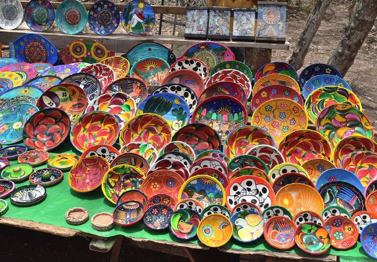 Colourful handicrafts