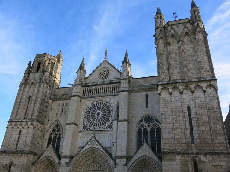 The Saint-Pierre Cathedral in Poitiers is a masterpiece of Angevin Gothic architecture