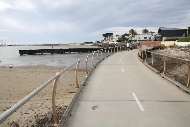 Bayside Coastal Trail between Brighton Beach and Elwood Beach, Melbourne, Victoria, Australia