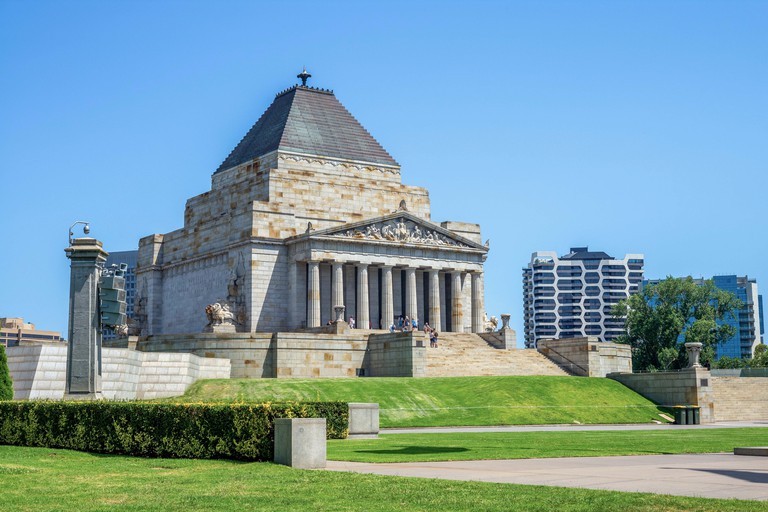Shrine of Remembrance in Melbourne, Victoria, Australia