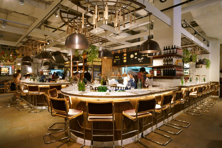 Il Pastaio di Eataly, a pasta restaurant in Eataly, the Italian marketplace in Flatiron District.Manhattan.New York City.USA