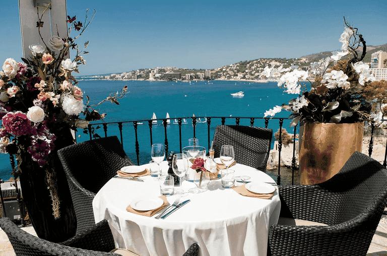 Sea views at the Il Paradiso Marivent