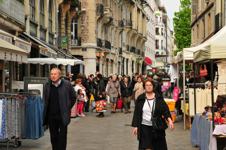 The market in Central Halles, Dijon, France