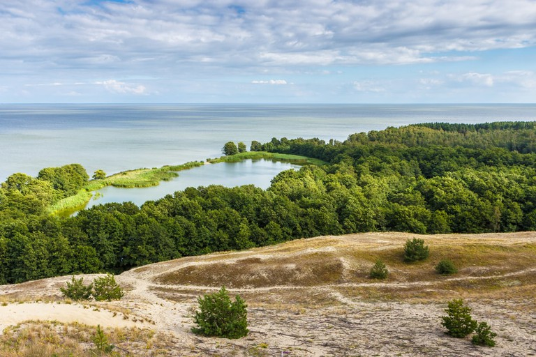 View of dunes and Baltic Sea. Curonian Spit | © Dmitrii Ivanov/Shutterstock