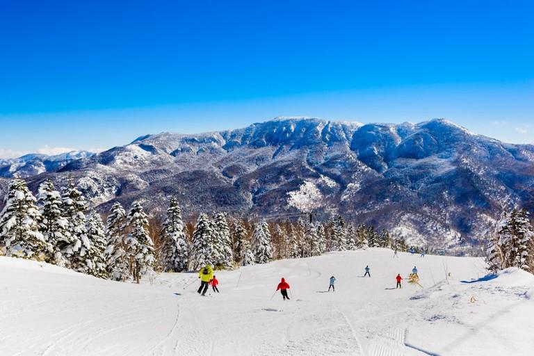 Ski resort, Japan