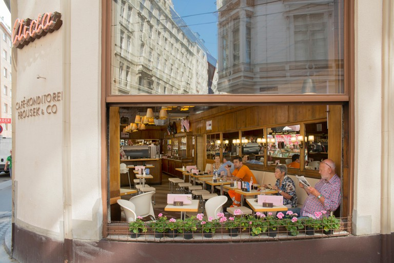 Aida Café Konditorei is a franchise with around 30 coffee houses spread around Vienna