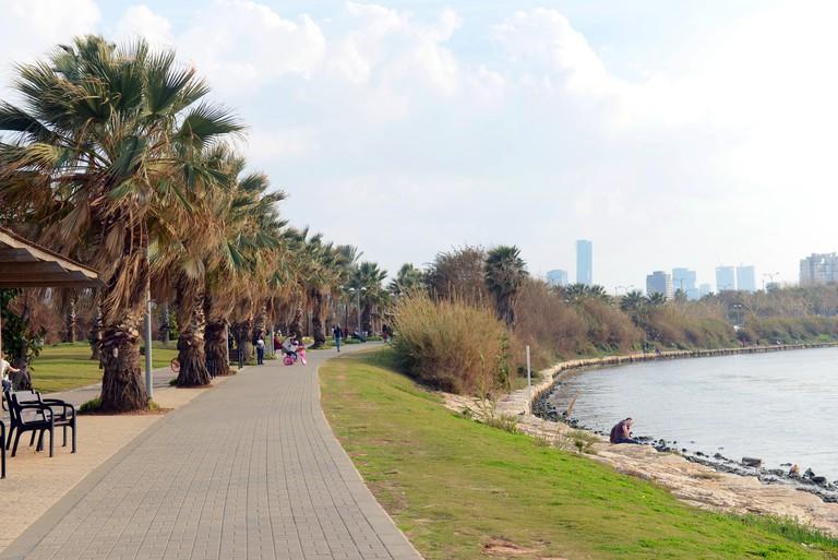 The Yarkon park in Tel-Aviv. HaYarkon Park sees over 13 million visitors a year