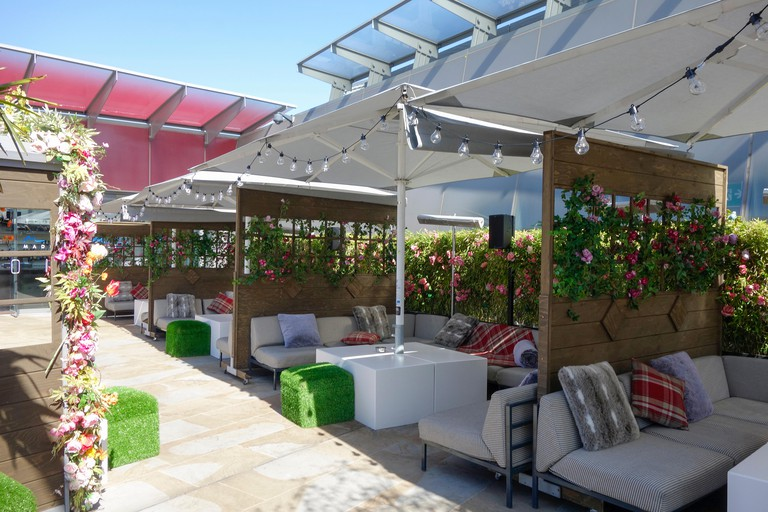 Madison bar and tapas restaurant at One New Change rooftop terrace in the City of London, EC4 England.