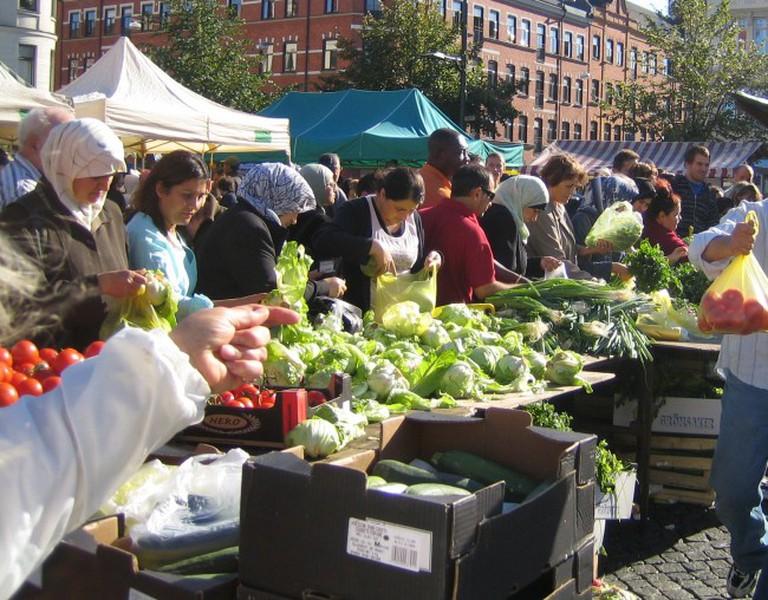 Möllevångstorget in the heart of multicultural Malmö