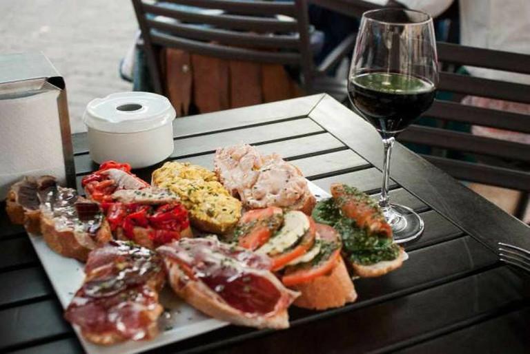 Wine and tapas at Vinoteca Barbechera