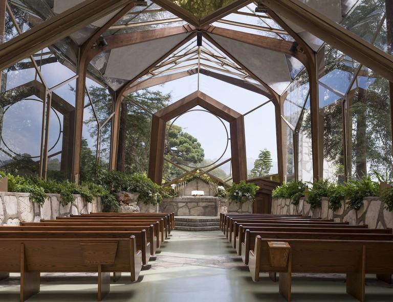 The Wayfarers Chapel in Los Angeles.