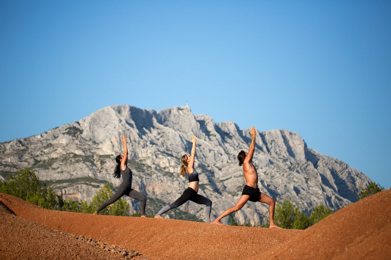 YAMA yoga just outside of Aix at the foot of the Sainte-Victoire mountain